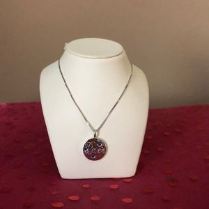 18 inch Sterling silver necklace & pendant